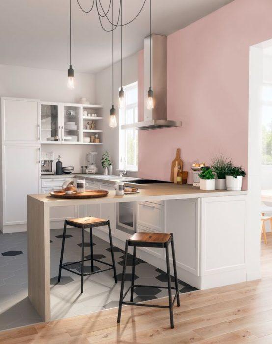 грязно розовый кухня