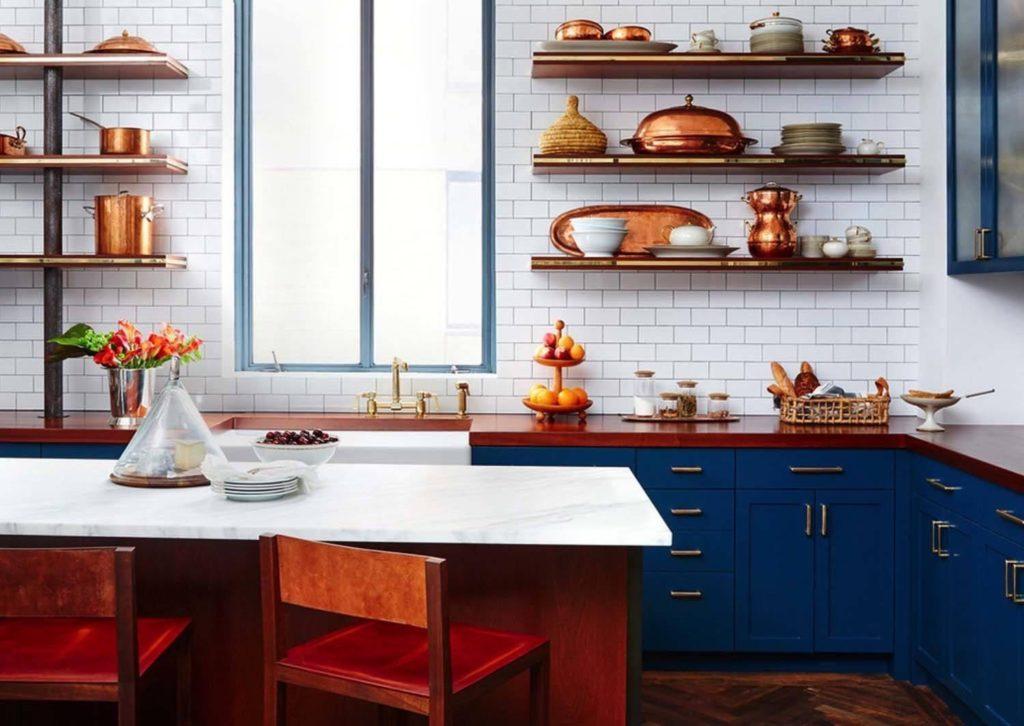фото кухонь с полками