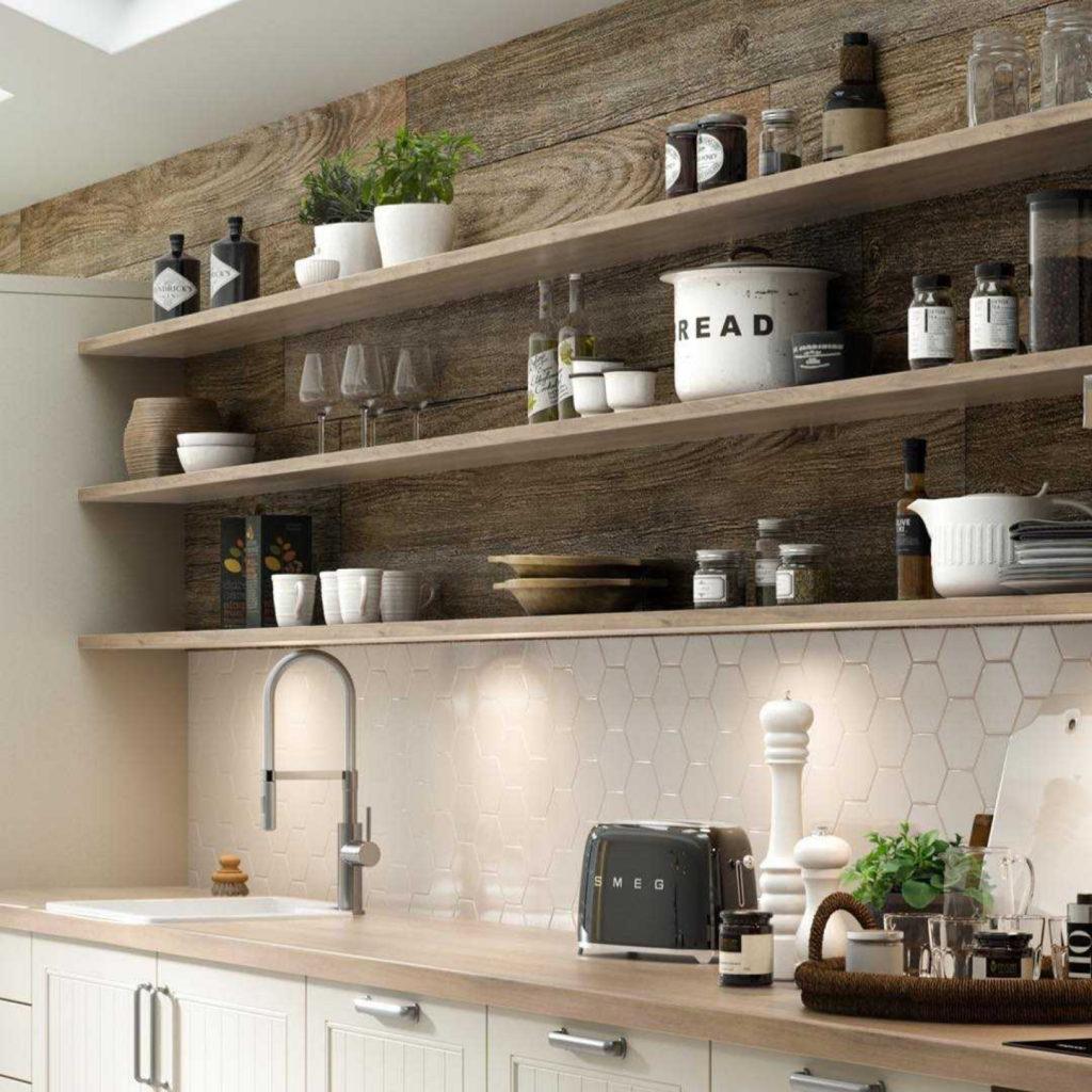 кухня с полками фото