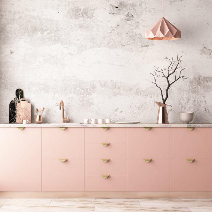серо розовая кухноя