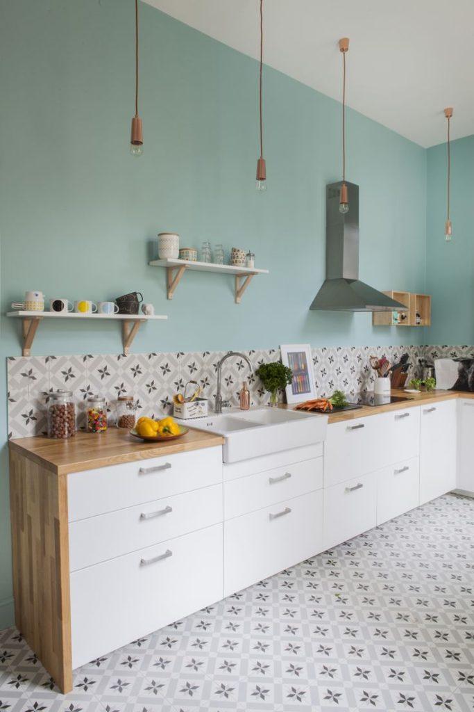 интерьер кухни покраска