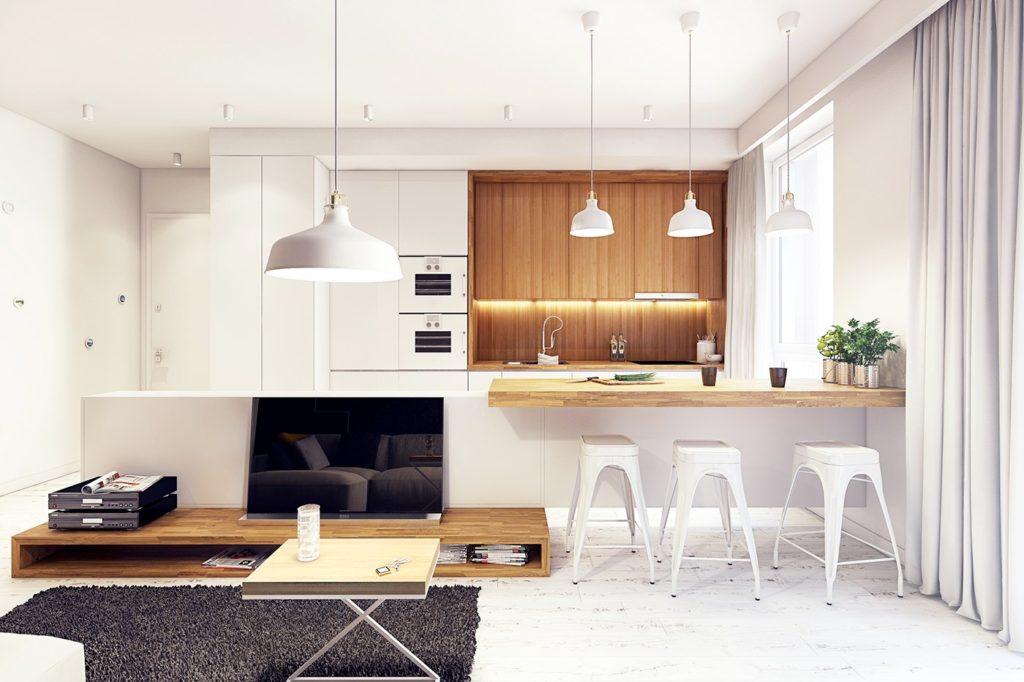 красивые кухни в частных домах