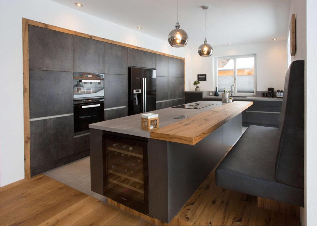 кухня модерн бежевая