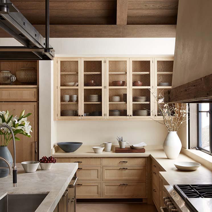 деревянная кухня дизайн