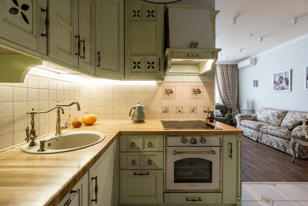 стиль кухни в частном доме