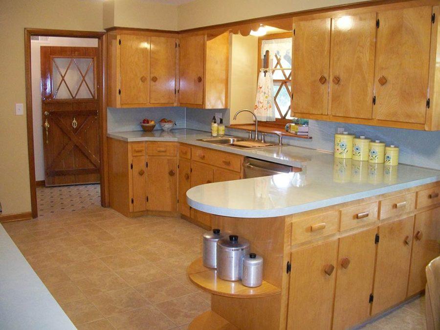 деревянный цвет кухня