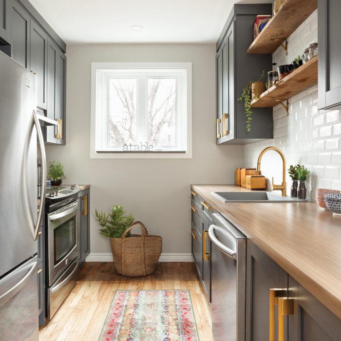 небольшая кухня в современном стиле