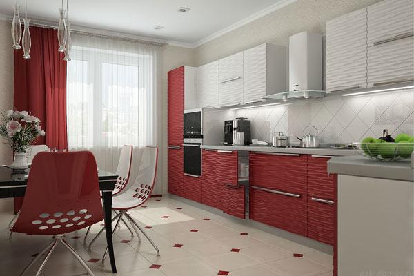 шторы на красную кухнб