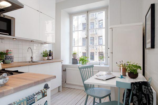 интерьеры небольших кухонь фото