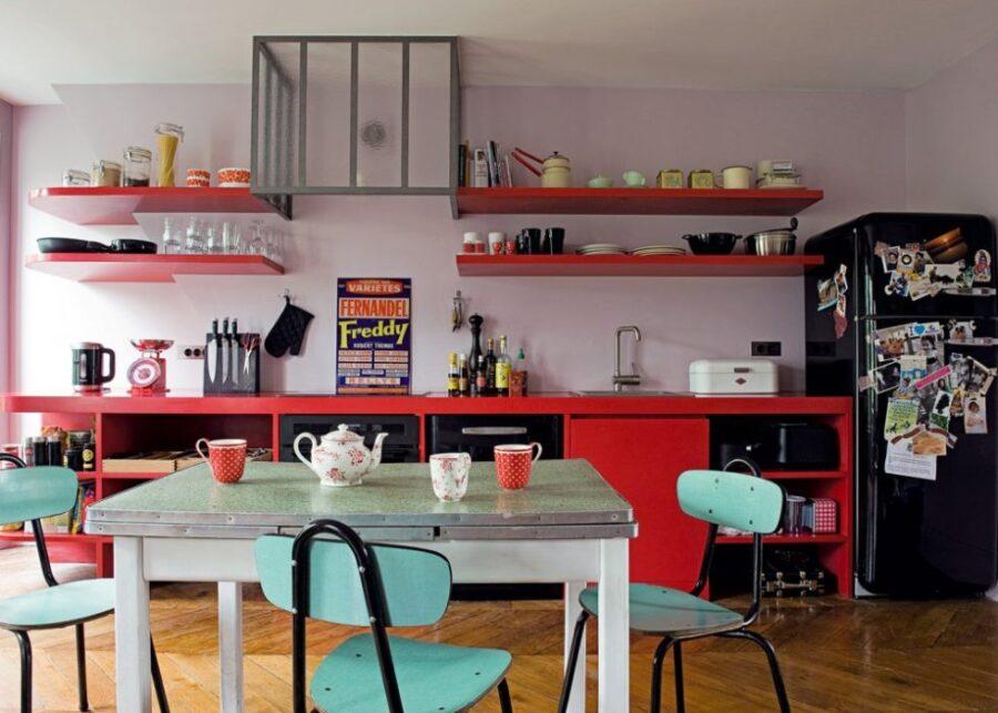 сочетающиеся цвета в интерьере кухни
