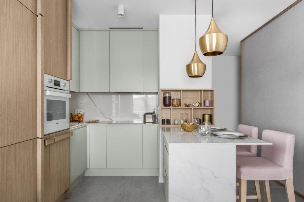 фото расстановки мебели кухни