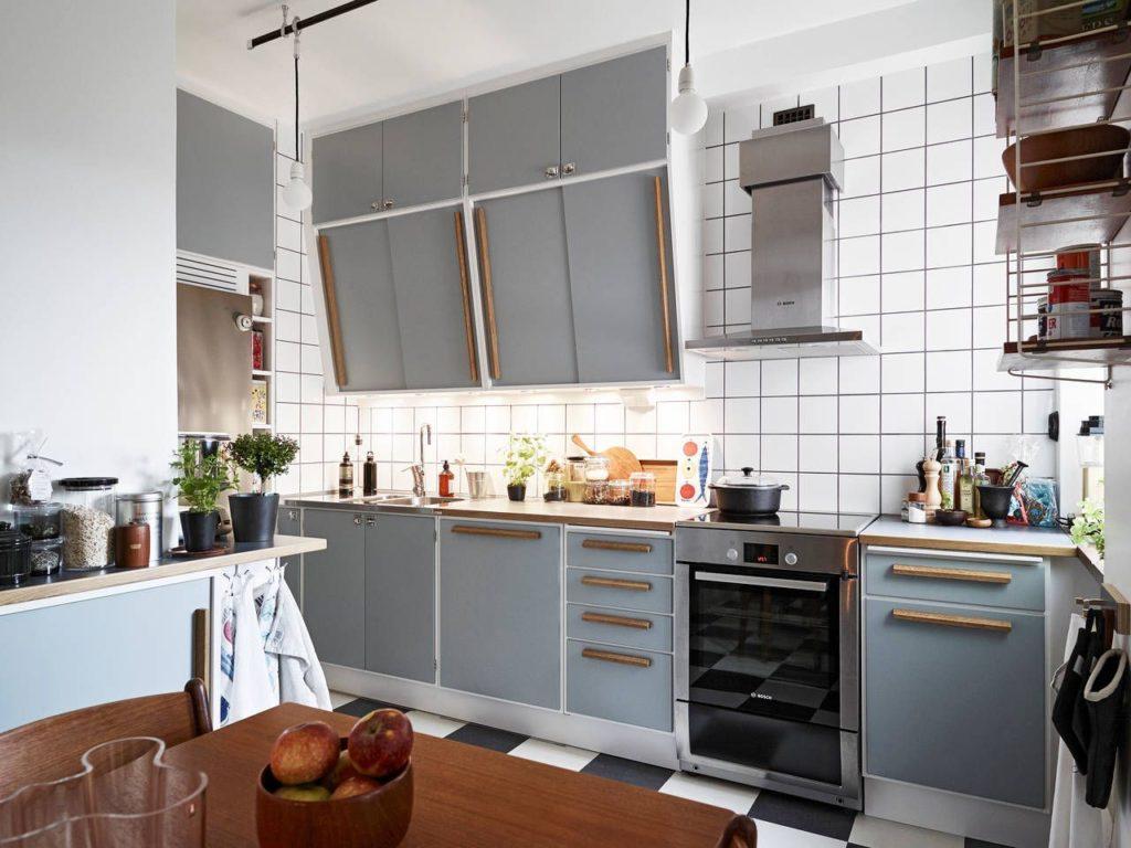 серая кухня в интерьере сочетание