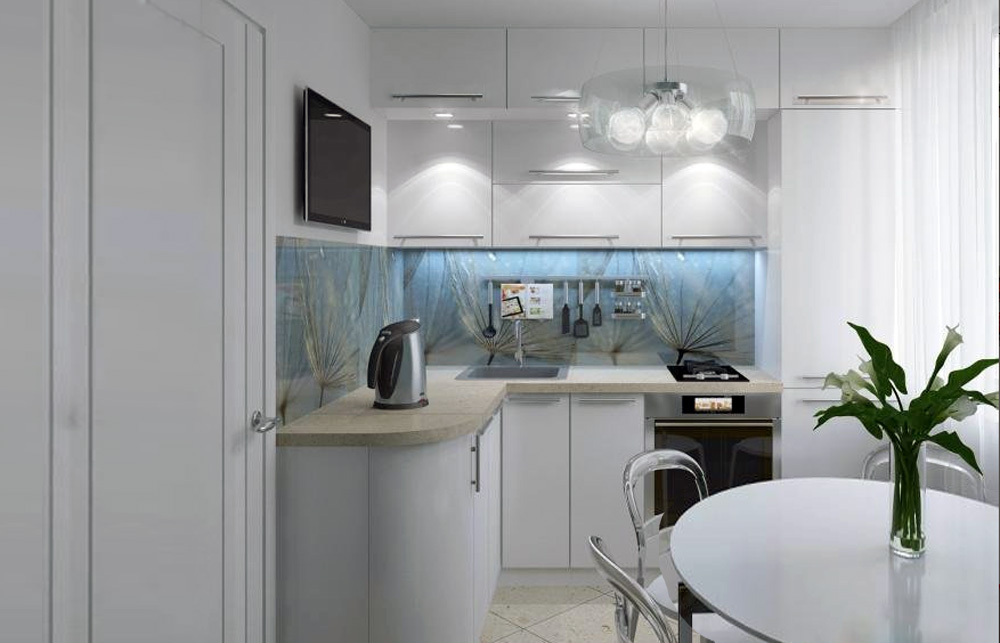 кухня хрущевка дизайн с холодильником