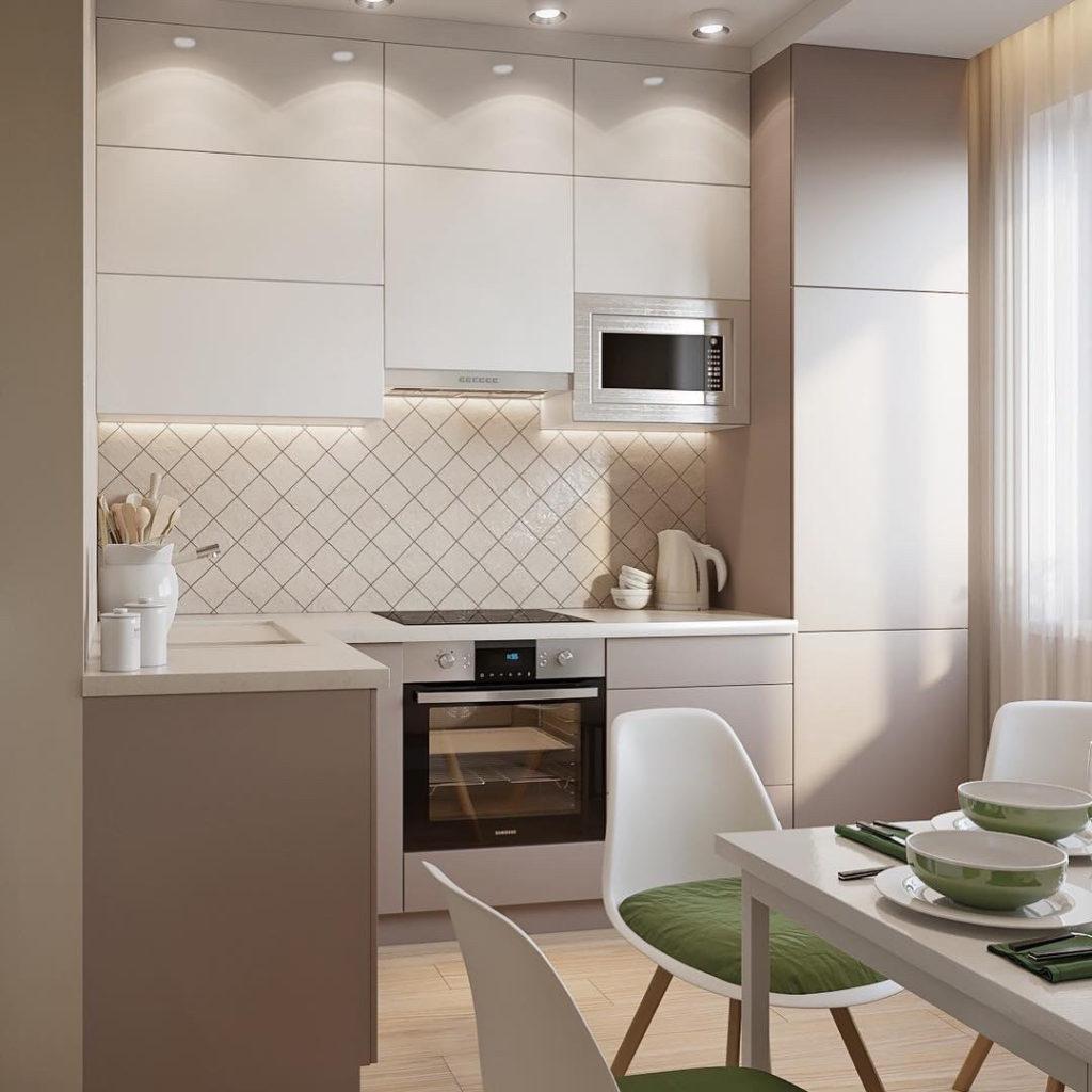 кухни 6 кв м с холодильником хрущевка