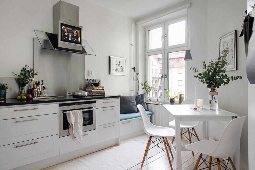 скандинавская угловая кухня