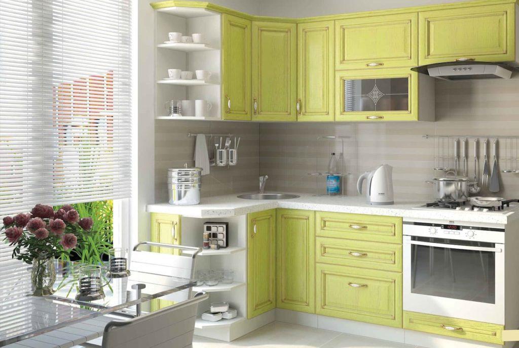 кухни угловые верхние шкафы фото