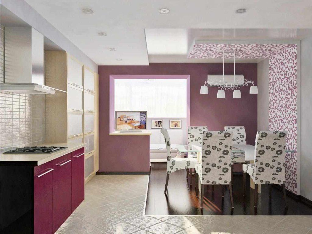 фиолетовая кухня сочетание цветов