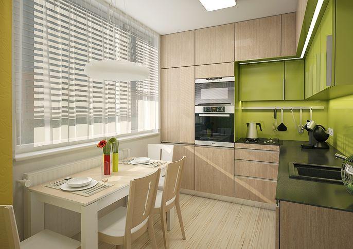угловые кухни 9 кв м фото