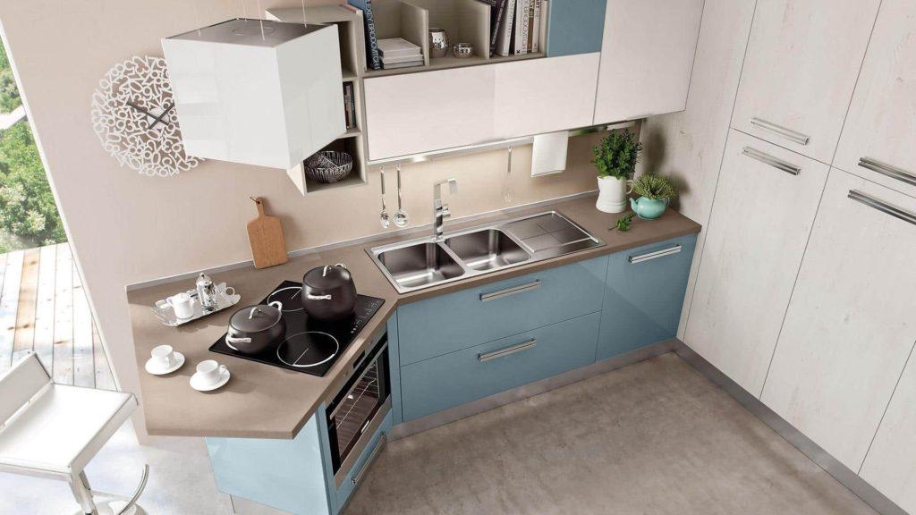 современные угловые кухни фото