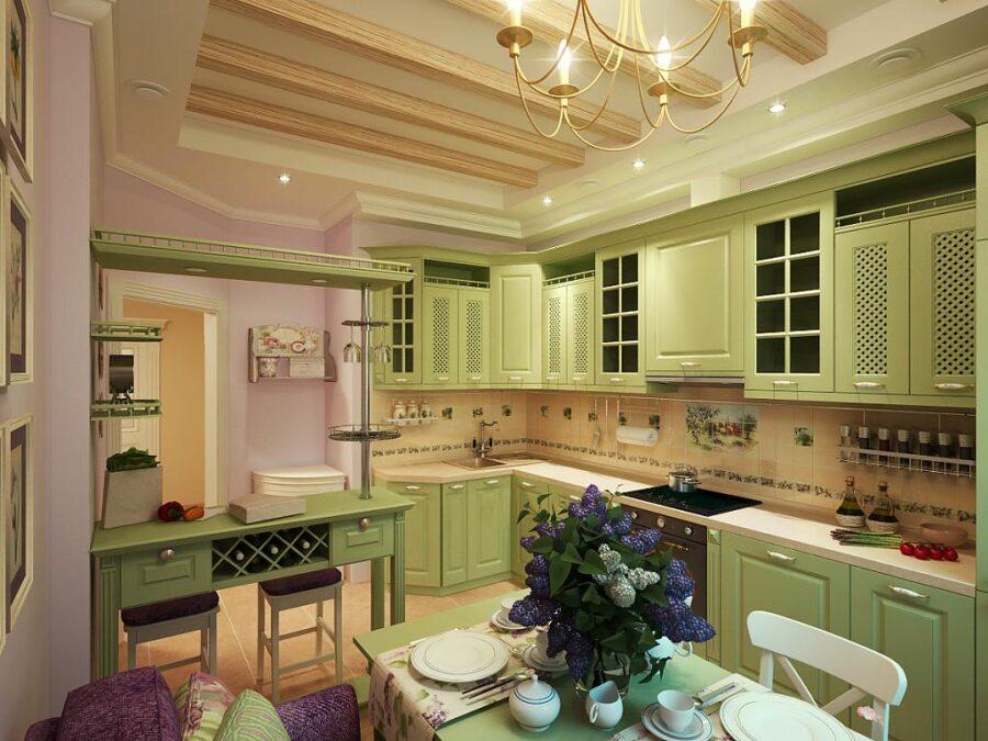 варианты кухни в частном доме