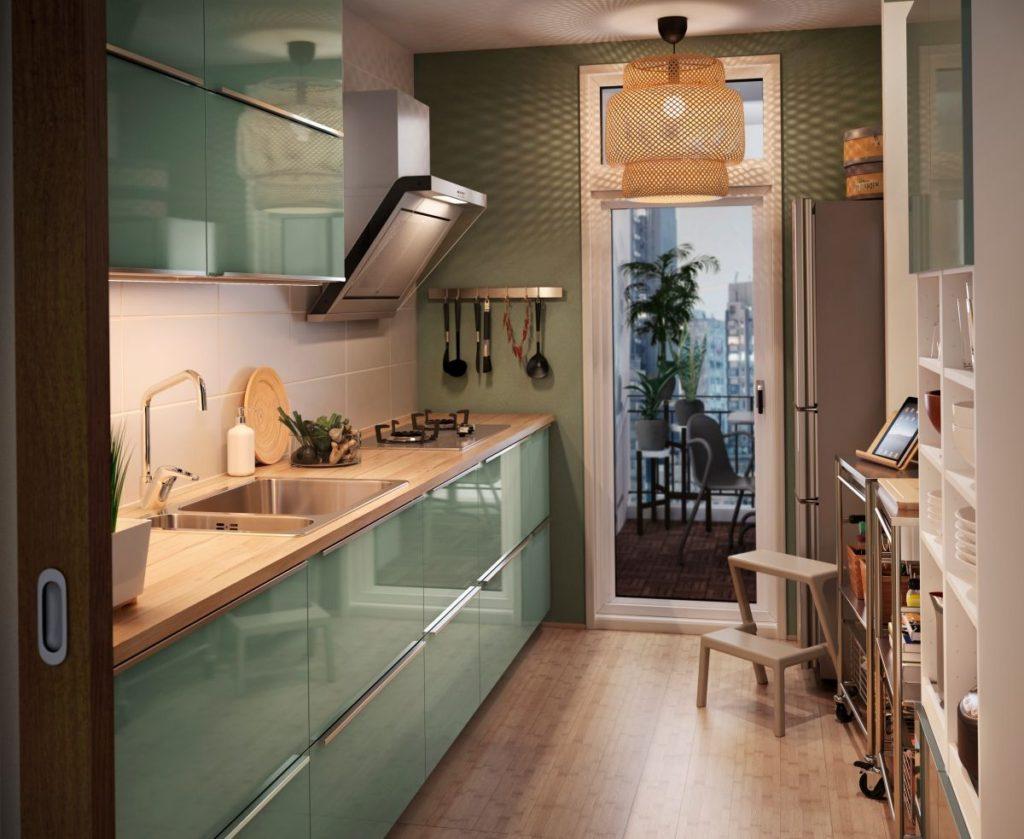 кухни зеленых цветов