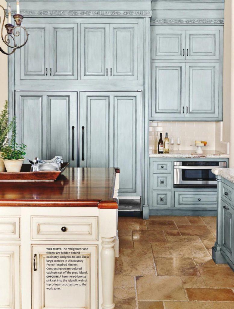 кухня мария голубая