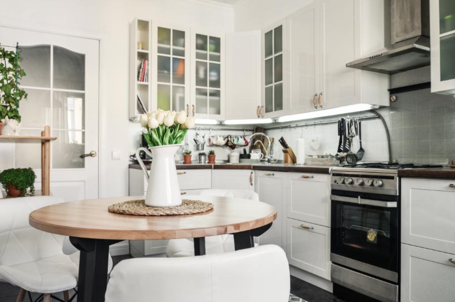 Кухонный ремонт в однокомнатной квартире в панельном доме