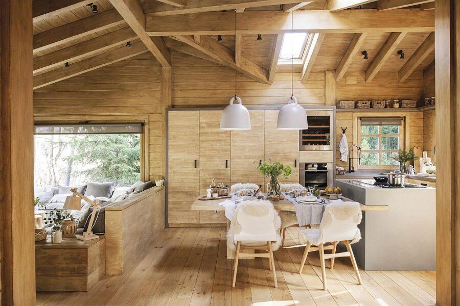 дом в стиле шале одноэтажный с террасой