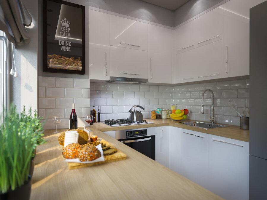 кухни в хрущевках с газовой плитой
