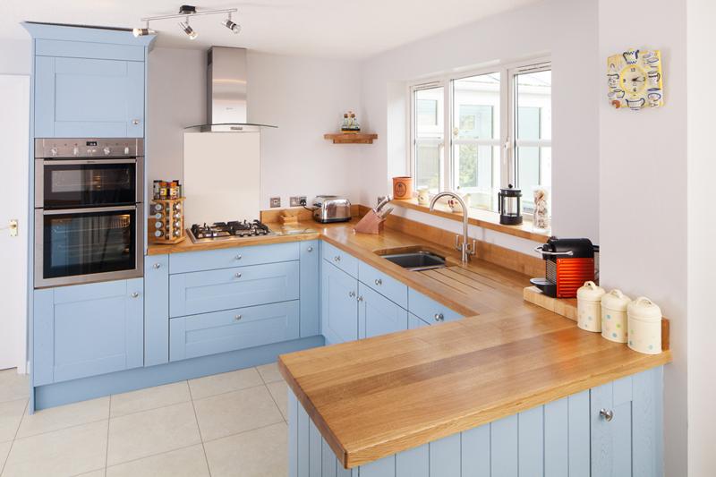 голубая кухня фото дизайн