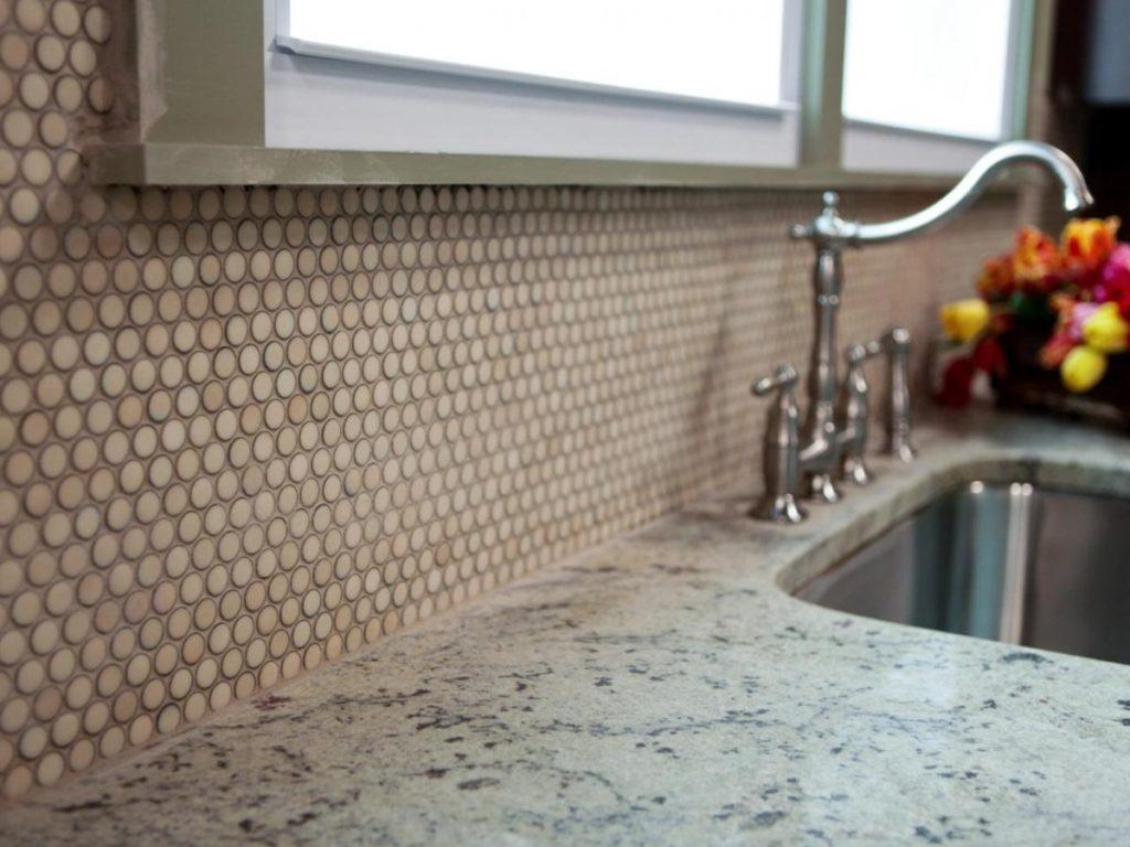 плитка мозаика кухонный фартук