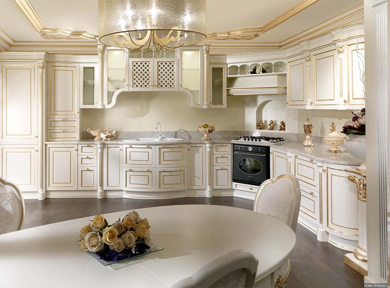 кухня в стиле барокко фото интерьер