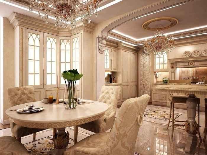 белая классическая кухня фото