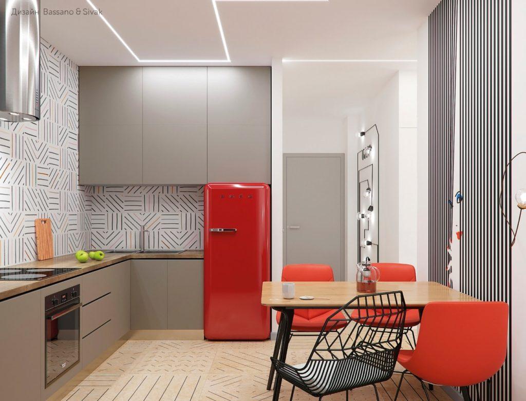 дизайн кухни хрущевки + газовой фото