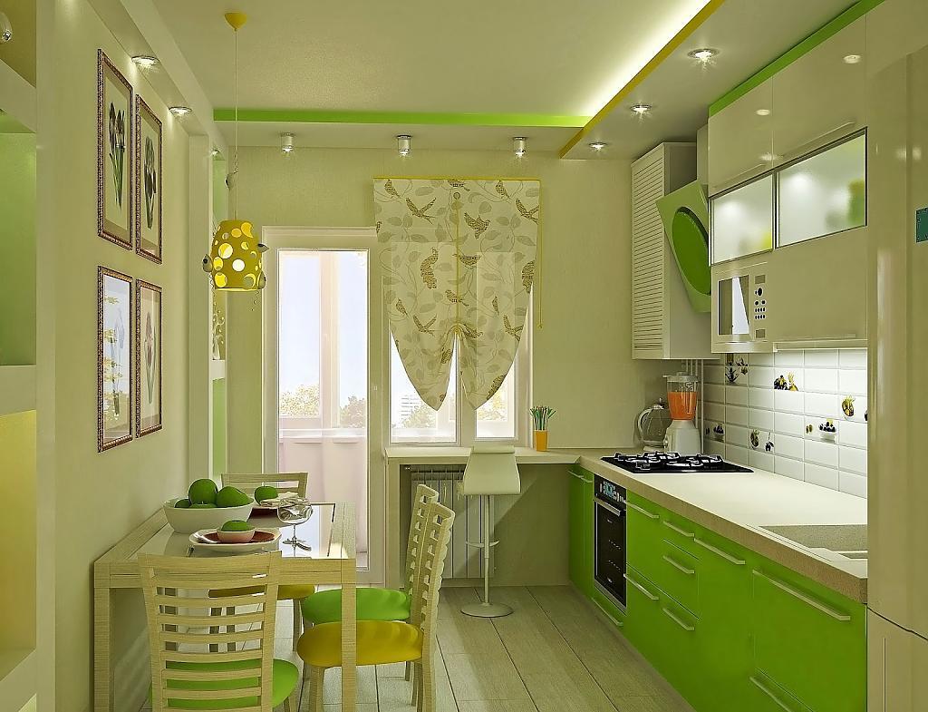 обои под зеленую кухню