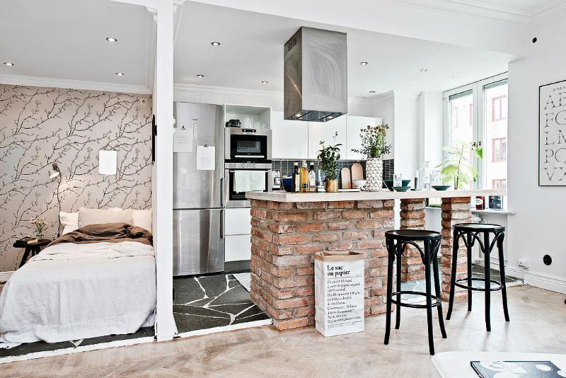 кухонный ремонт в квартире площадью 9 кв.м.