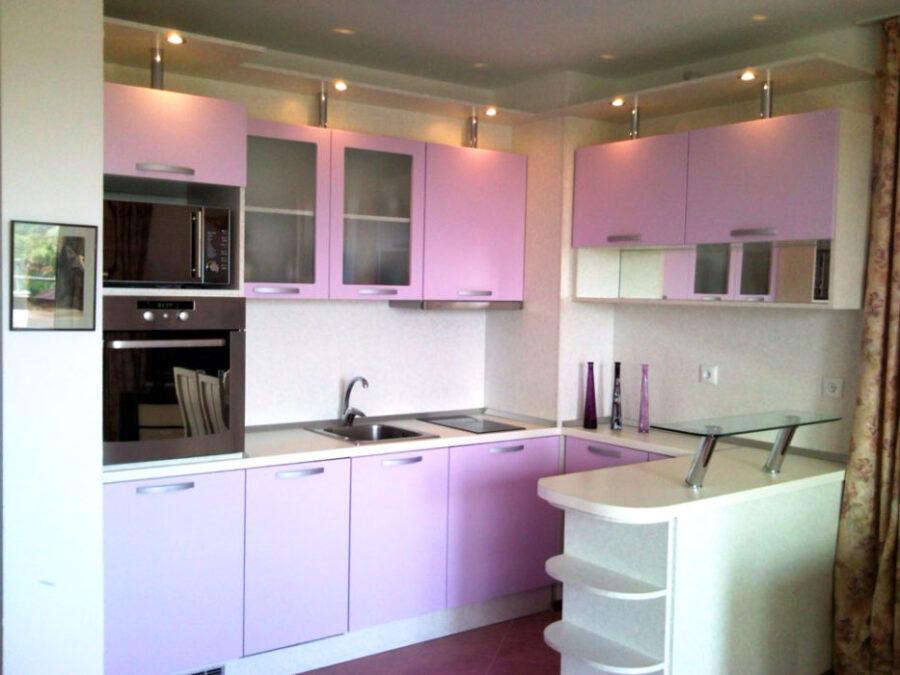 дизайн кухни +в фиолетовых цветах128 дизайн кухни +в фиолетовом цвете