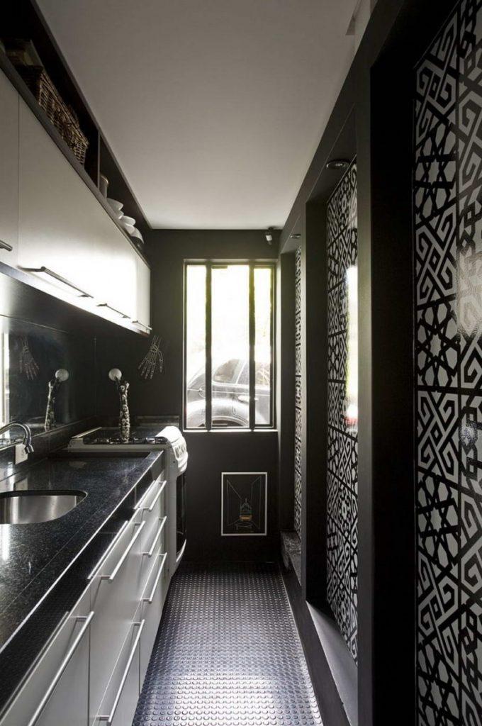 кухня сочетание черного