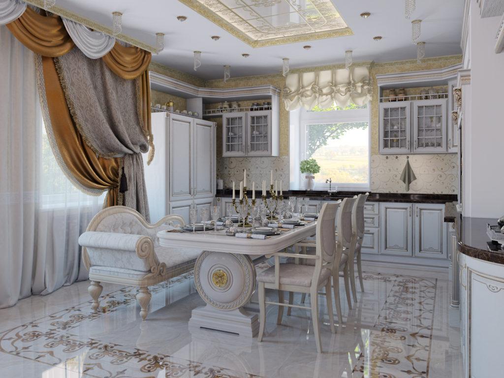 кухня классическая интерьер фото