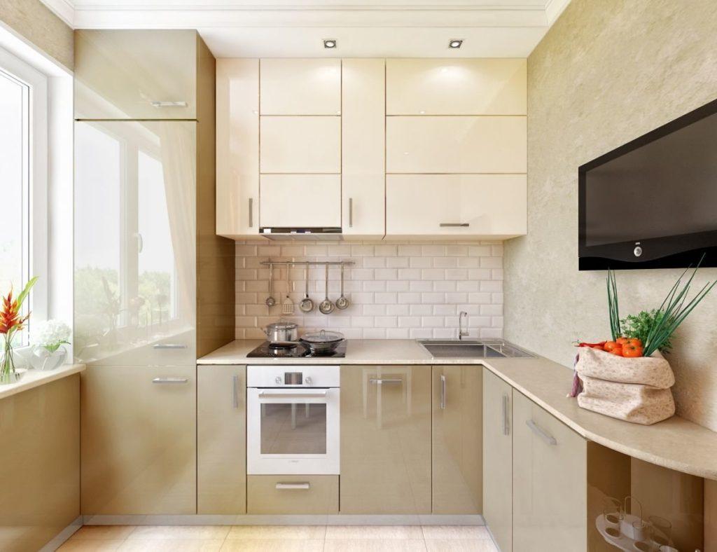 угловые кухни с мойкой в углу фото