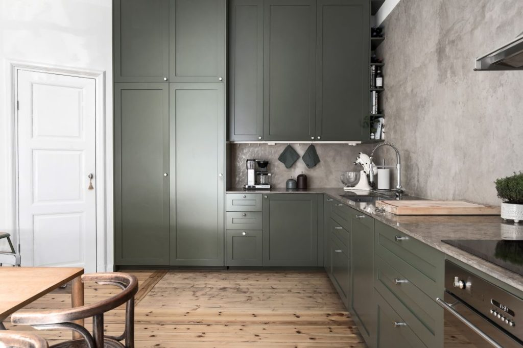 фото кухней зеленых цветов