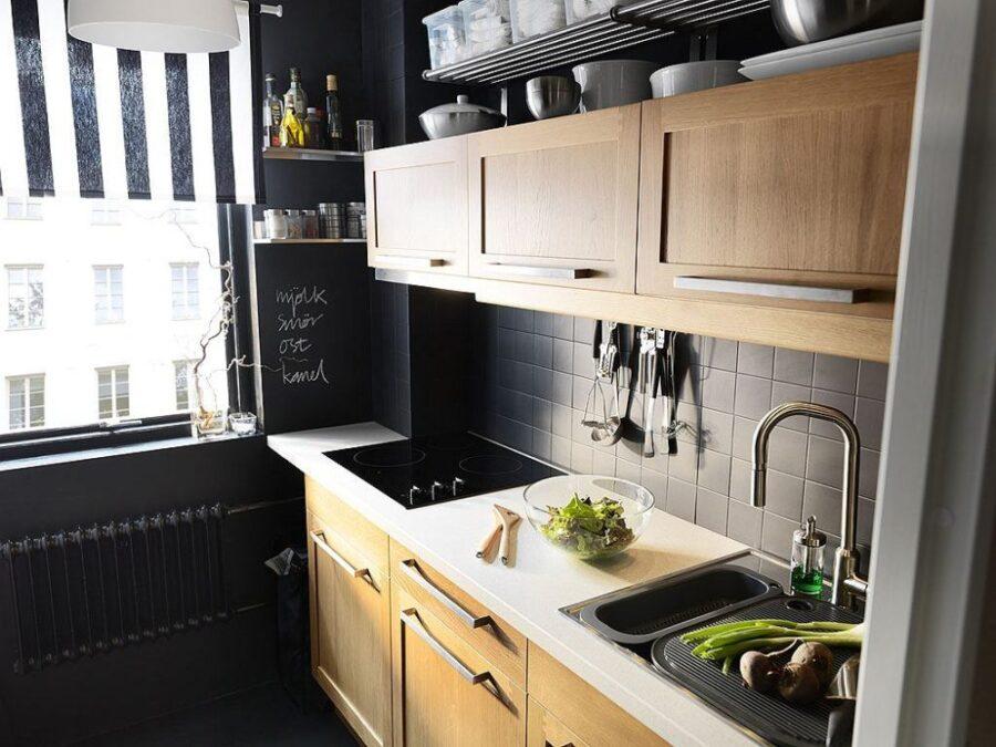 маленькая кухонная угловая кухня