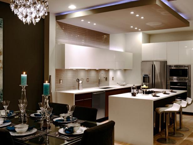 подвесной потолок на кухню варианты