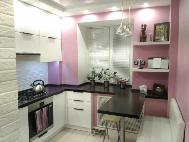 дизайн отделки стен кухни фото