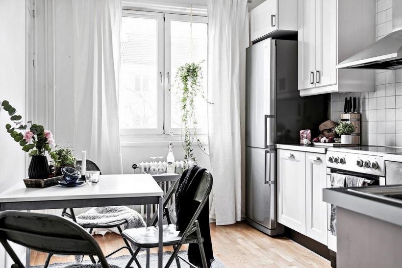 занавески на маленькую кухню