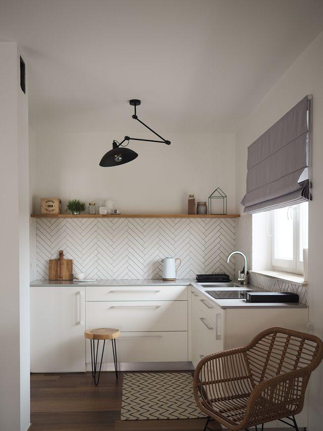 кухня сочетание белого и серого