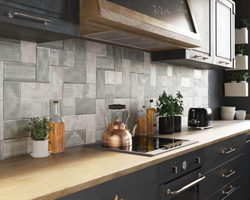 варианты кухонной плитки