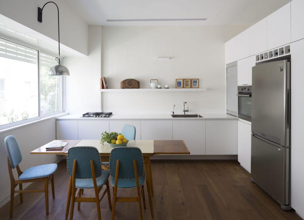 угловая кухня без верхних шкафов фото