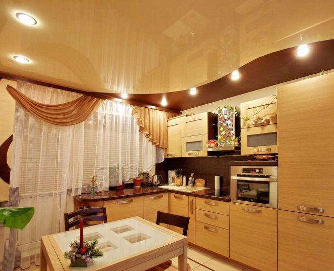 подвесной потолок над кухней
