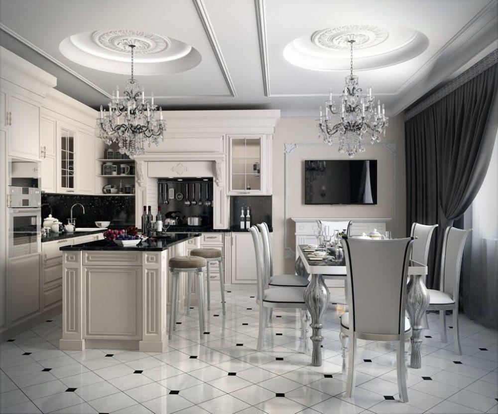 кухни со шторами